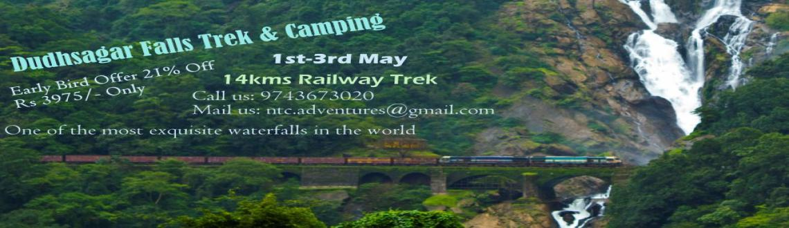 Book Online Tickets for Dudhsagar Falls Trek  Camping, . This April, How would you like to GO Goa And Trek! To the famous Dudhsagar falls..Like a Traveler Ought To.. A Trekkers Paradise, DoodhSagar will make you go yay.. For Dudhsagar is one of the world\\\'s most exquisite falls amidst the dense forest..w