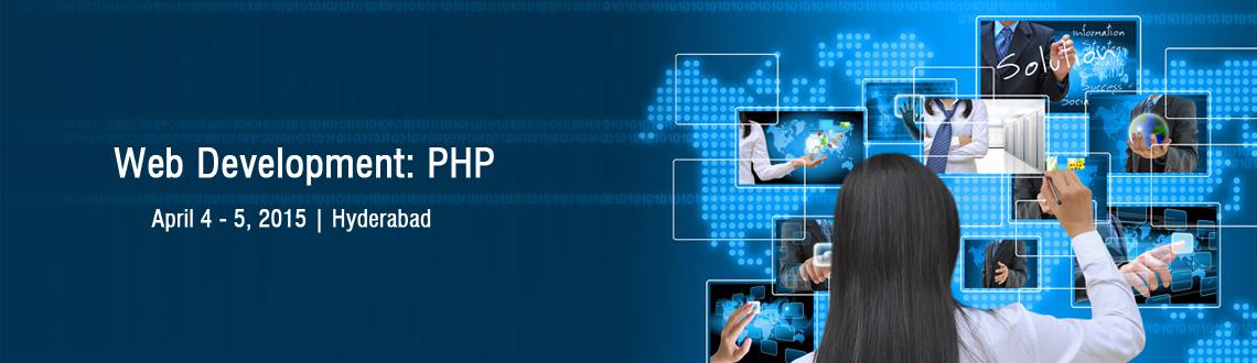 Book Online Tickets for Web Development: PHP , Hyderabad. For live updates, discounts, Offers or to pay directly(in Rupees) (OR) To know more about this training program visit here  http://www.codeinstruct.com/events/hyderabad-php-apr-2015Call us at 1800-3000-1260 if you have any queries related to the even