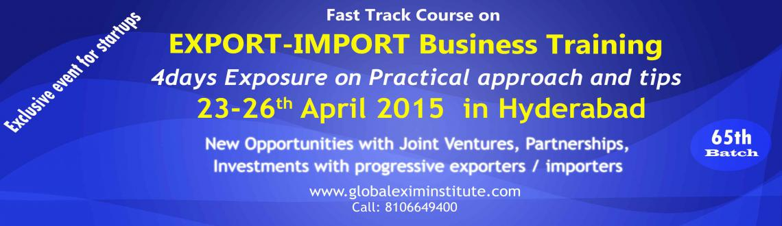 EXPORT-IMPORT Business Training -4days in HYD from 23/4