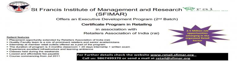 Book Online Tickets for Certificate Program in Retailing ( CPR), Mumbai. Certificate Program in Retailing (CPR)