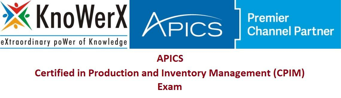 Book Online Tickets for APICS CPIM Exam, Various. The APICS Certified in Production and Inventory Management (CPIM) program provides you with the ability to understand and evaluate production and inventory activities within a company\'s global operations. The APICS CPIM program benefits designe