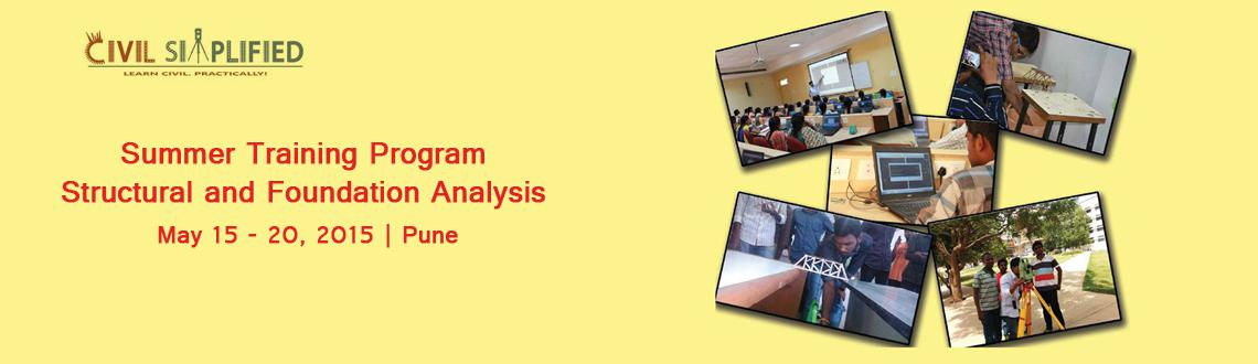 Summer Training Program on Structural and Foundation Analysis at Pune