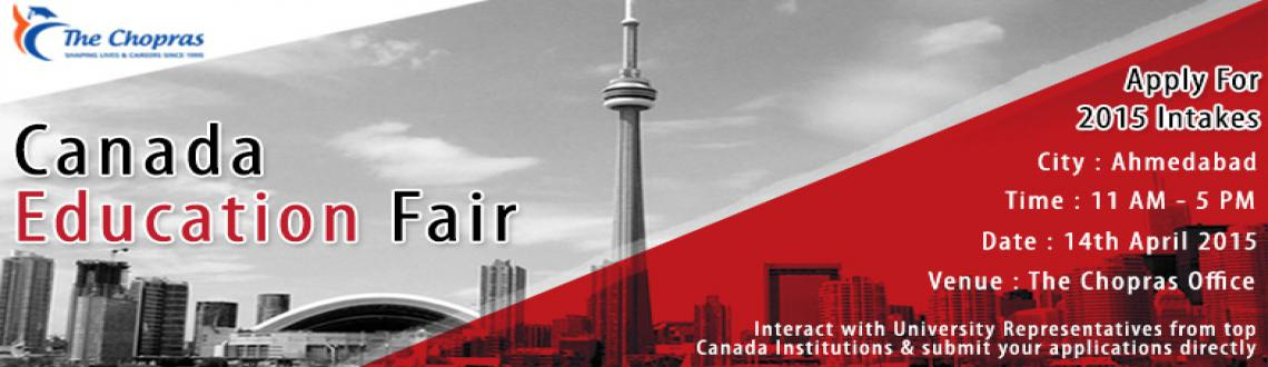 Book Online Tickets for Canada Education Fair in Ahmedabad, Ahmedabad. The Chopras has been successful in bringing Canada university delegates and Indian students aiming to study in Canada under one roof at their highly communicating event called The Canada Education Fair. The representatives will be helping students wi
