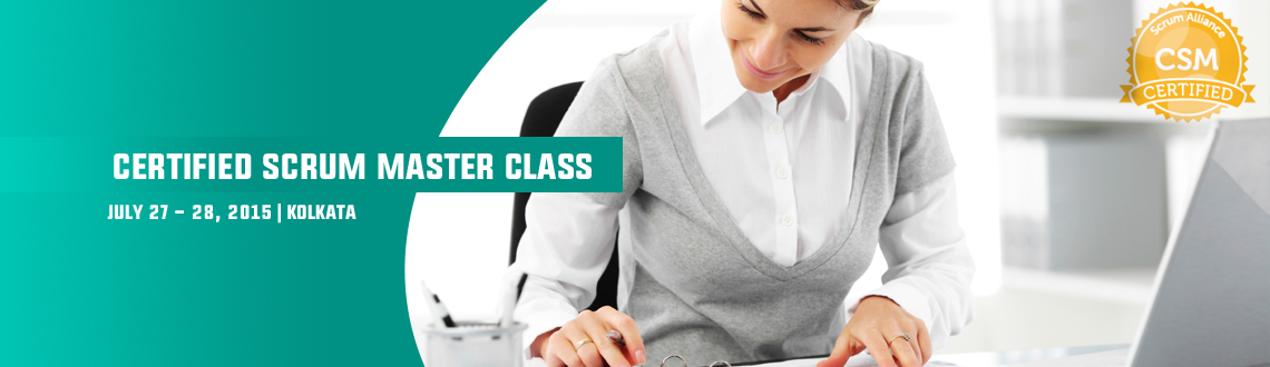 Book Online Tickets for Certified Scrum Master class; Kolkata- J, Kolkata.  All CSM courses are taught by Certified Scrum Trainers. Taking a CSM course, passing the CSM test, and accepting the license agreement designates you as a Certified ScrumMaster, which indicates that you have been introduced to and understand