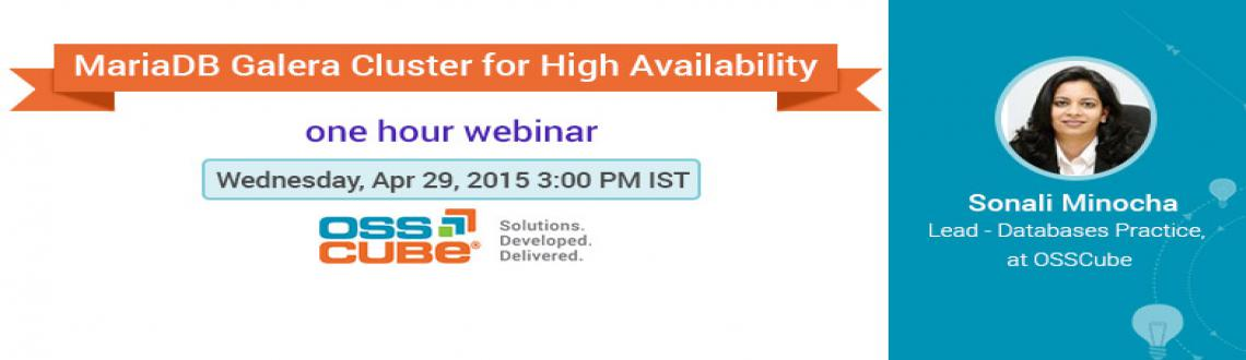 Webinar on MariaDB Galera Cluster for High Availability
