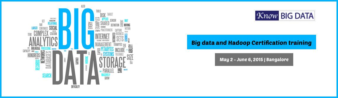 Book Online Tickets for Big data and Hadoop training with Certif, Bengaluru. Big Data and Hadoop Certification Training (Includes Apache Spark) - Live Instructor Led Online Classes