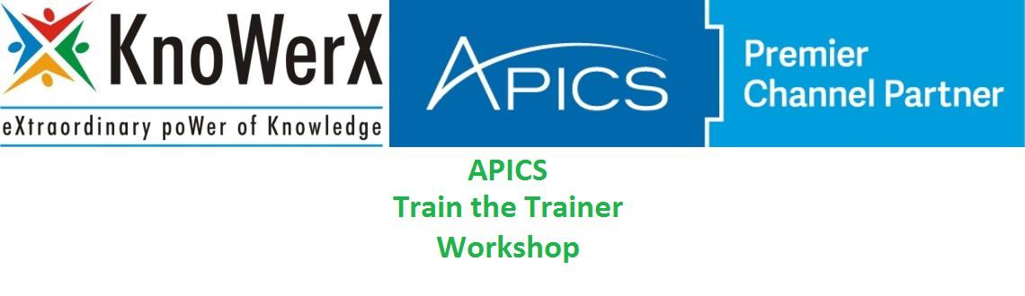 Book Online Tickets for APICS Train the Trainer (TTT) Workshop, Bengaluru. The two-day interactive APICS TTT course prepares supply chain and operations management professionals to teach adult training and APICS development courses. This APICS course provides 10 lesson plans for instructors with a successful and workable me