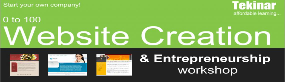 Book Online Tickets for 0 to 100 Website Creation  Entrepreneurs, Bengaluru. This one day, hands-on workshop will help you learn website creation from scratch. Need no programming or html skills. After this workshop you will be able to start your own small web development venture from the comfort of your home, without any maj