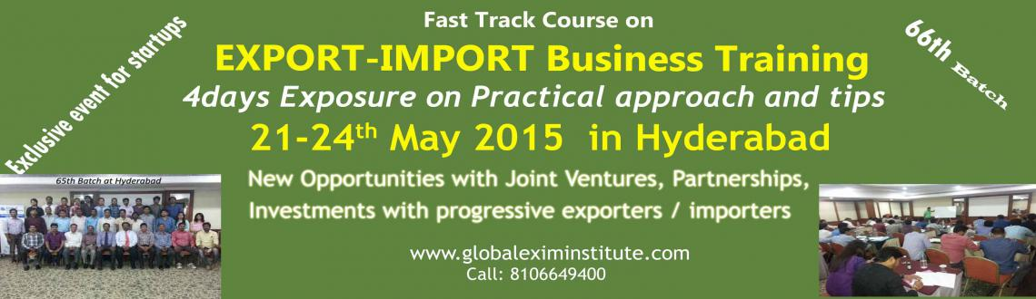 EXPORT-IMPORT Business Training in HYD from 21-24 May15