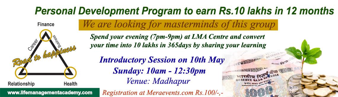Book Online Tickets for Millionaire in 365 days, Hyderabad. Millionaire in 365 days: 