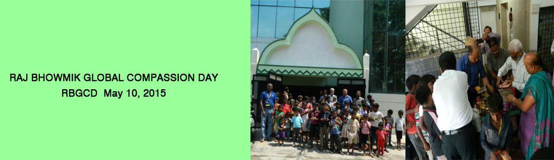 Raj Bhowmik Global Compassion Day 2015