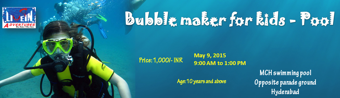 Bubble maker for kids - Pool