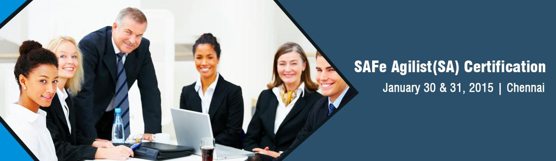 Book Online Tickets for SAFe Agilist (SA) Certification in Chenn, Chennai. Alliance Study provides certified training courses across the world. It\\\'s main target is to provide a best course training in all over the world