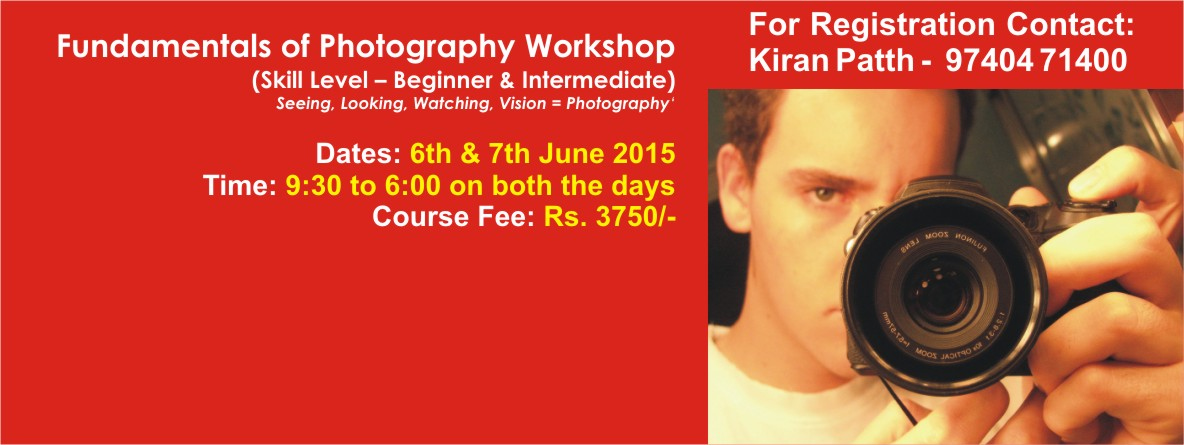 Book Online Tickets for Fundamentals of Photography Workshop, Bengaluru. Overview Seeing, Looking, Watching, Vision = Photography At Fundamentals of Photography workshop you will learn the basics required to move off AUTO Modes and get dramatically better photos. The thought of moving off AUTO may be a little daunting.