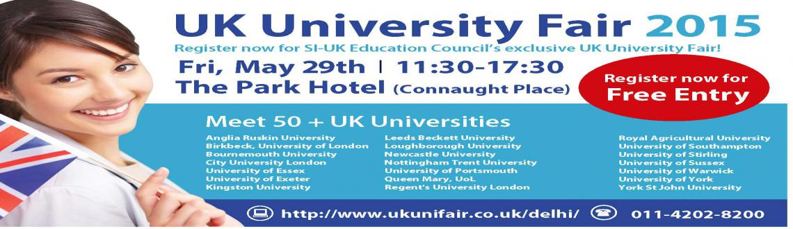Book Online Tickets for UK University Fair by SI-UK Education Co, NewDelhi. Meet over 50+ universities in the same room, speak with consultants, and discover scholarships for Indian students at the UK University Fair in Delhi.