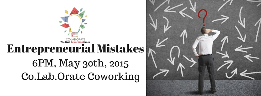 Book Online Tickets for Entrepreneurial Mistakes, Hyderabad. Please note that attendees are curated. Read the entire description before signing up!  Entrepreneurship is the new fad! And there\\\'s a lot of noise. For a new comer, it is hard to distinguish between the noise and what really matters. In this peri