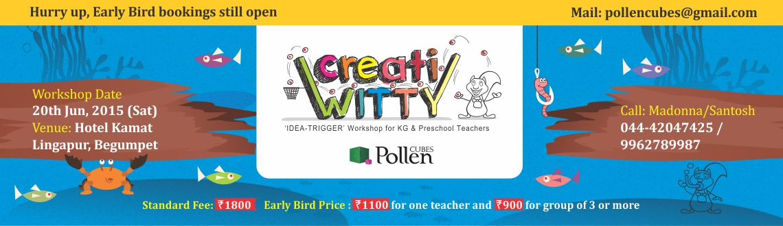 CreatiWITTY-Exclusive idea-trigger workshop for KG and Preschool Teachers