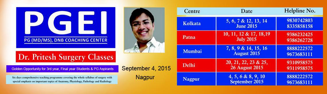 PGEI Nagpur SURGERY Essance Lecture (6 Days) by Dr. Pritesh Kumar