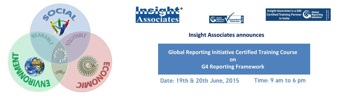 Book Online Tickets for GRI Certified Training Course On G4 Repo, Hyderabad. Objectives of the GRI G4 workshop:  1.The objective of this GRI certified training programme is todisseminate knowledge on sustainability reportingthroughout India and to support organizations, intending todeclare their sust