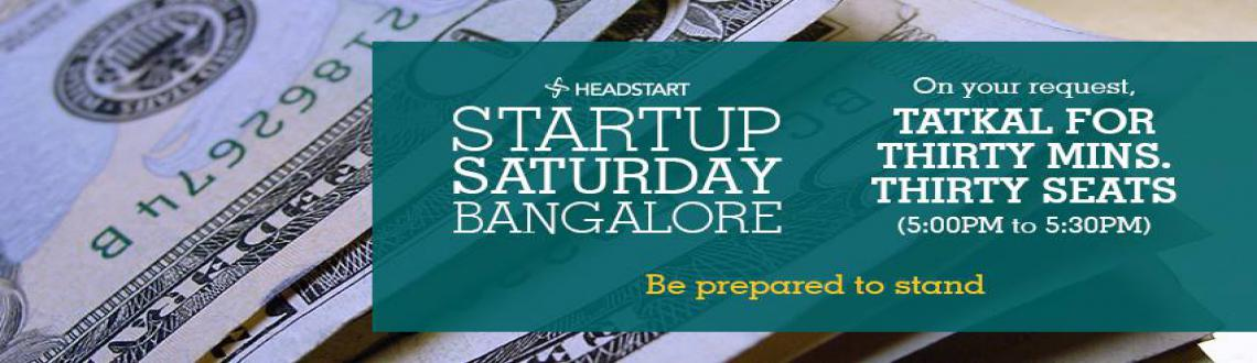 Headstarts Startup Saturday Bangalore