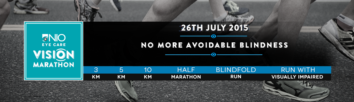 Book Online Tickets for NIO Vision Marathon - 26 July: 3K, 5K, 1, Pune. NIO Vision Marathon, 26 July 2015, Sunday