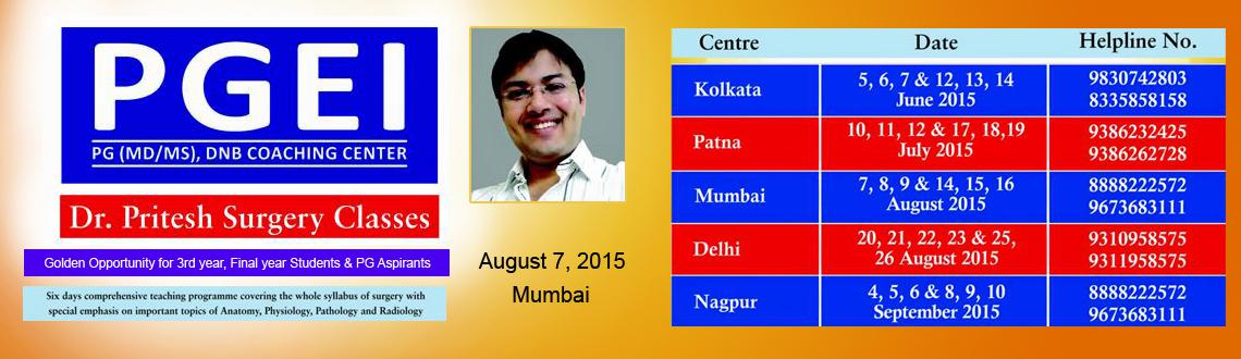 Book Online Tickets for PGEI Mumbai Surgery Essance Lecture (6 D, Mumbai. 