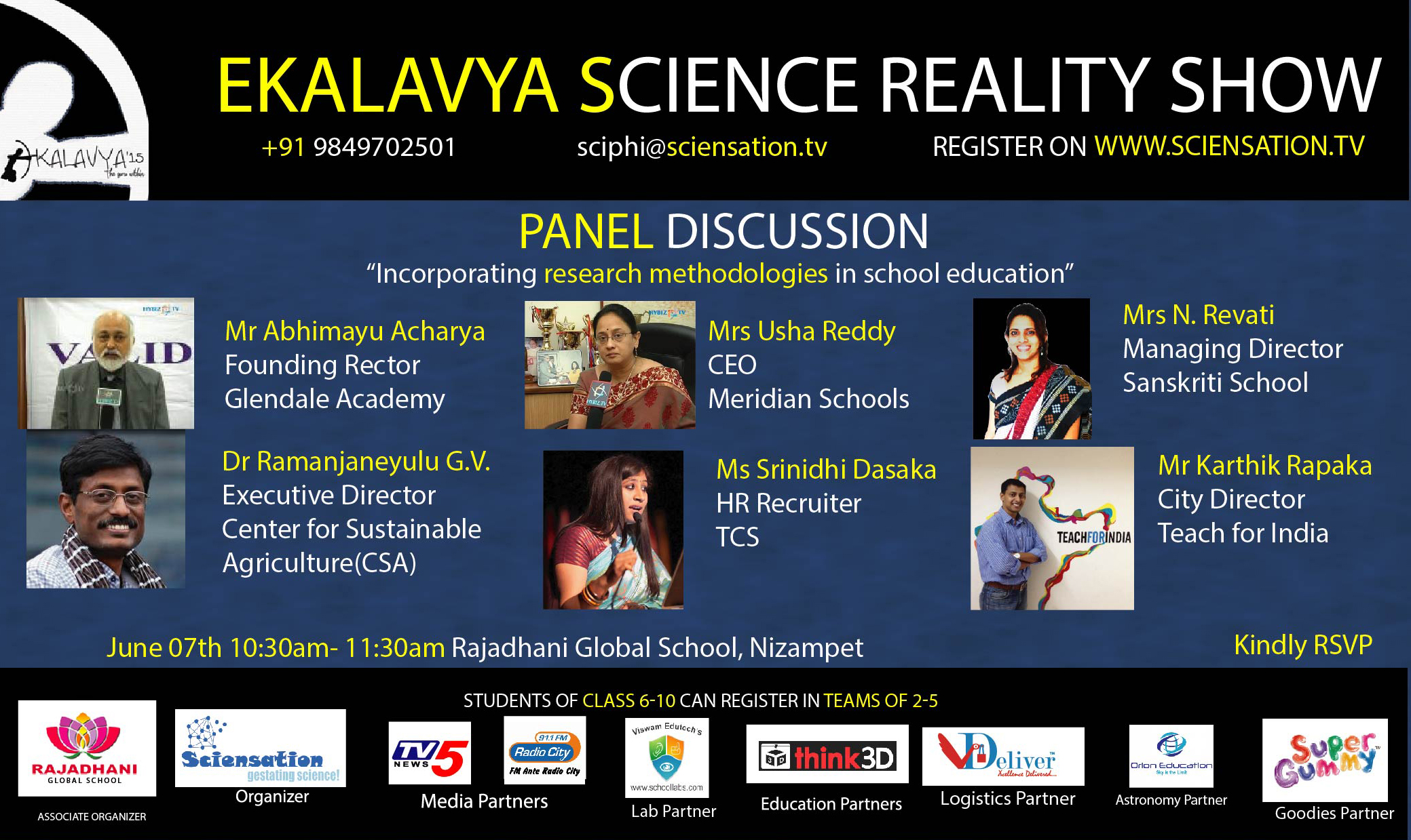 Ekalavya Science Reality Show: Panel Discussion