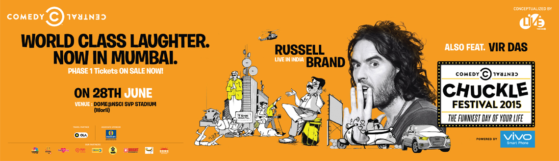 Russell Brand to make Indian audience 'chuckle' with world renowned comedians such as Gabriel 'Fluffy' Iglesias, Eddie Ifft and Paul Varg