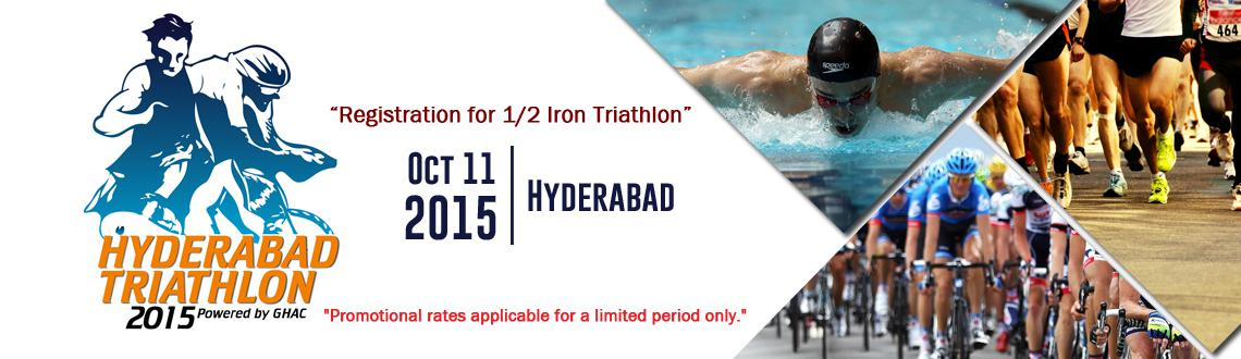 Hyderabad Triathlon 2015 - Registration for 1/2 Iron Triathlon