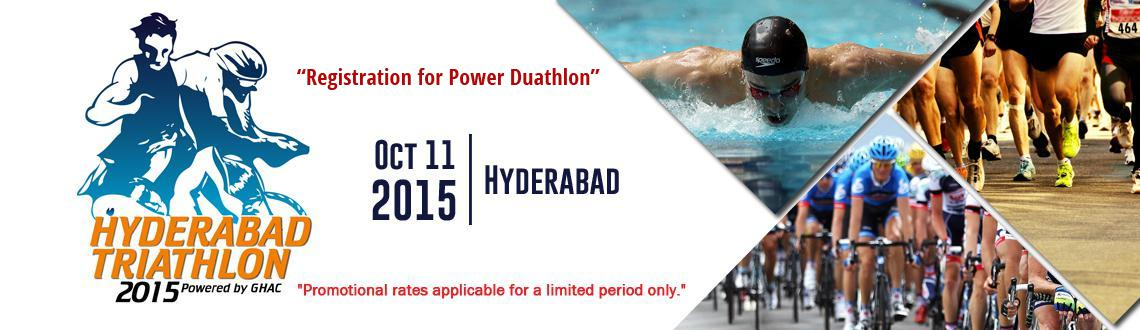 Hyderabad Triathlon 2015 - Registration for Power Duathlon