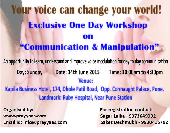Book Online Tickets for Enhance your voice, Pune. Voice, one the most wonderful gift by God to all human beings, which we use to express our feelings, emotions, knowledge, need and wants.