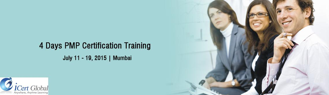 4 Days PMP Certification Training Workshop at Mumbai, IN-iCert Global, Register Now