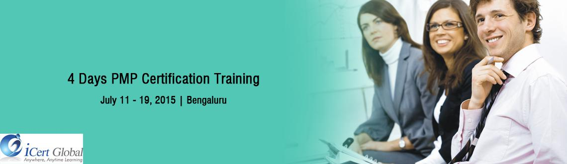 4 Days PMP Certification Training Workshop at Bangalore, IN-iCert Global, Register Now