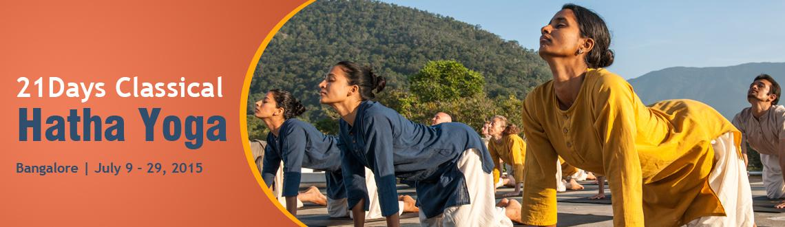 21 Days Classical Hatha Yoga, 5-25 August, Indira Nagar