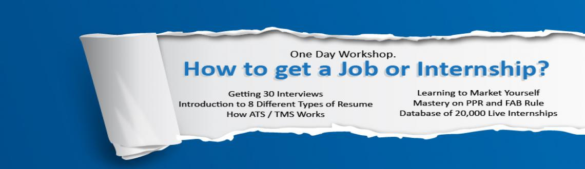 Book Online Tickets for 1 Day Workshop: How to Get Job or Intern, Nagpur. How to Get a Job or InternshipOne Day Workshop.How to get a Job or Internship?Getting 30 InterviewsIntroduction to 8 Different Types of ResumeHow ATS / TMS WorksLearning to Market YourselfMastery on PPR and FAB Rule&nbsp