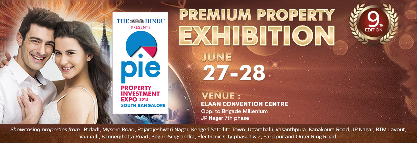 Book Online Tickets for THE HINDU SOUTH BANGALORE PROPERTY INVES, . CONCEPTA FOCUSSED EXHIBITION FOR REAL ESTATE INVESTORS AND HOME BUYERS LOOKING FOR PROPERTY IN AND AROUND SOUTH BANGALORE.  WHY SOUTH BANGALORE?THE AREA HAS SUSTAINED THE NUMBER ONE POSITION IN THE LIST OF PREFERRED LOCALITIES DUE TO GOOD TRE