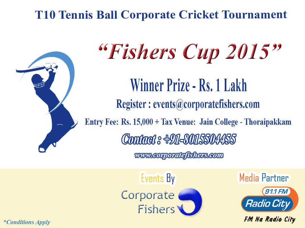 Book Online Tickets for Corporate Cricket Tournament , .
