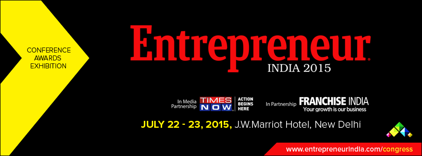 Book Online Tickets for Entrepreneur India 2015, NewDelhi. Entrepreneur India 2015 is a mega event, which is back in its 5th Annual Edition and will be held at J.W. Marriott on 22nd & 23rd July, 2015. Organized by Entrepreneur India Media, the show takes place in media association with Times Now. The sho