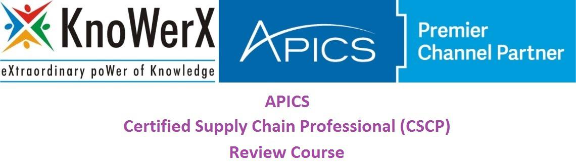 APICS CSCP Review Course, 19-23 January 2016, Bengaluru