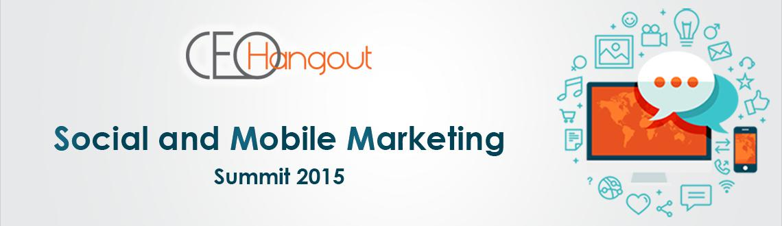 "Book Online Tickets for CEO Hangout Social and Mobile Marketing , Bengaluru. Social media ad spending worldwide is estimated to reach $23.9 billion in 2015.  The spend in Asia-Pacific was $5.13 billion in 2014.  India is the 2nd largest smart phone market in the world. According to a report by CISCO, ""In India, the numb"