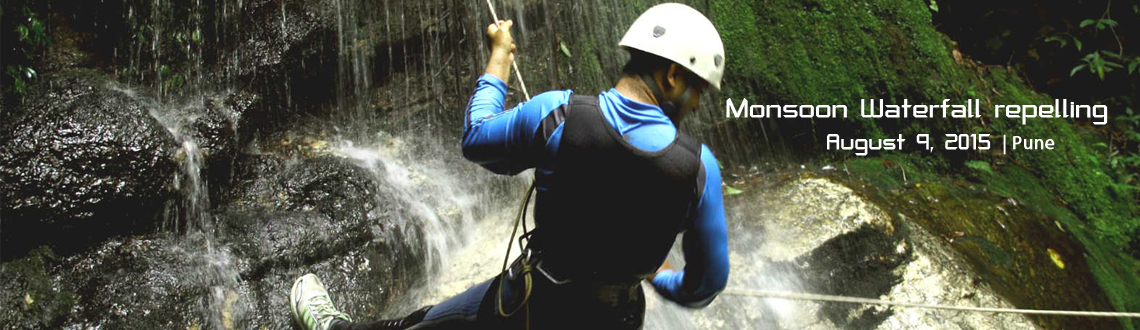 Monsoon Waterfall repelling
