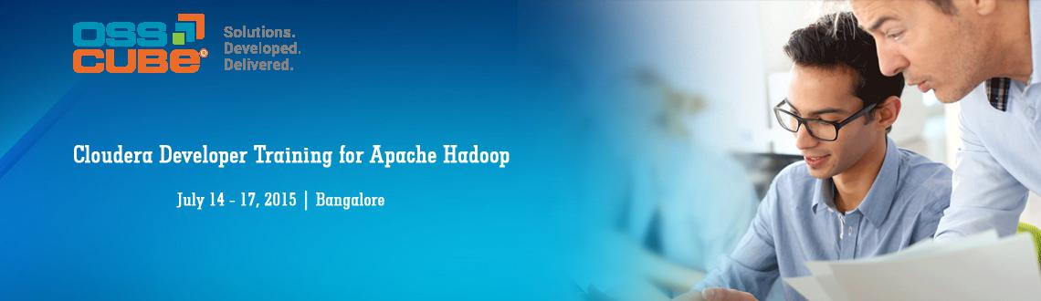 "Book Online Tickets for Cloudera Developer Training for Apache H, Bengaluru. Get a promising career in Hadoop with OSSCube's Cloudera Developer Training for Apache HadoopTo all Hadoop enthusiasts, OSSCube brings a great opportunity to learn ""Hadoop- must-to-know technology"" for a better career and job prospe"
