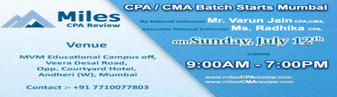 CPA/CMA Batch starts in Mumbai