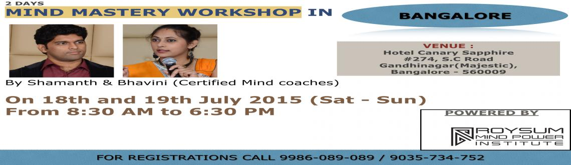 Book Online Tickets for Mind Mastery workshop, Bengaluru. Hi,