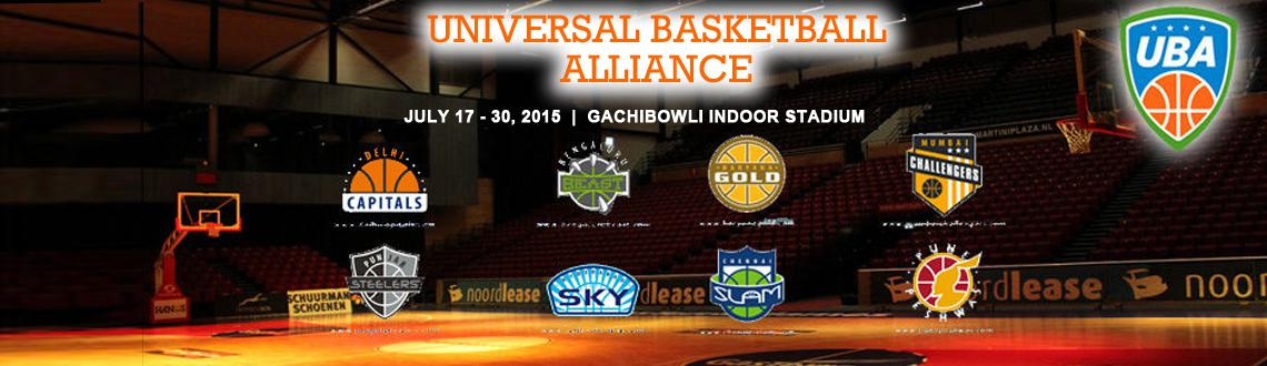 Book Online Tickets for  Universal Basketball Alliance , Hyderabad.  Universal Basketball Alliance : UBA India is a next-generation sports branding company. Our main objective is to make Sport brands mean something to their sport viewers.To do that, we help Sports brands connect with those viewers by providing i