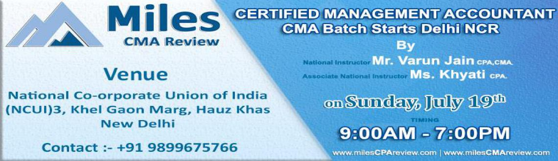 CMA Batch Starts In Delhi