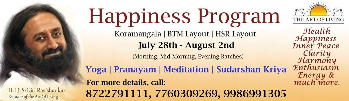 Guru Purnima Special Happiness Program at Koramangala