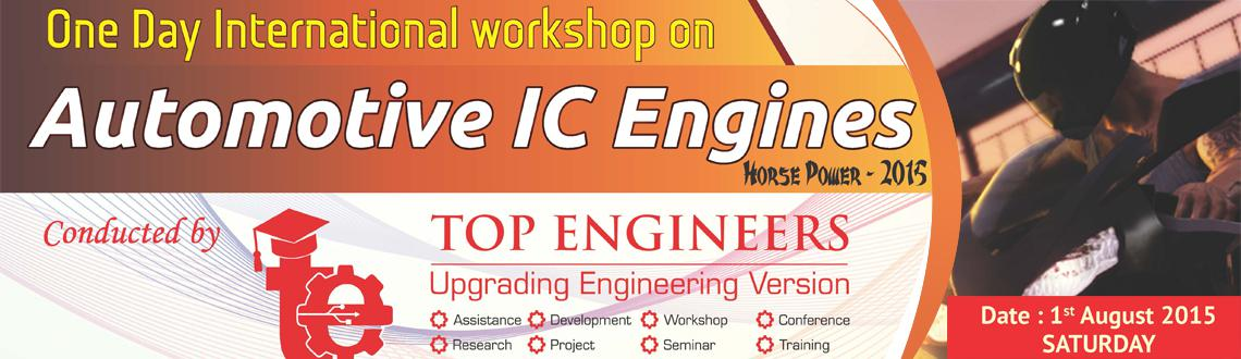 One Day International Workshop On Automotive IC Engines Horse Power - 2015