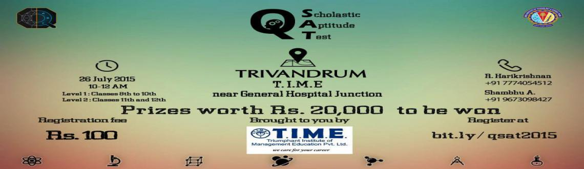 Book Online Tickets for qSAT Trivandrum, Trivandrum. Quark techfest of BITS Pilani Goa brings you Quark Scholastic Aptitude Test: qSAT 2015. For school students of standard VIII to XII, we bring you an innovative set of questions, get ready to test your intellectual skills and apply