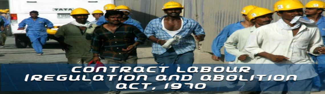 Book Online Tickets for Seminar on CONTRACT LABOUR (REGULATION  , Visakhapat. Seminar on